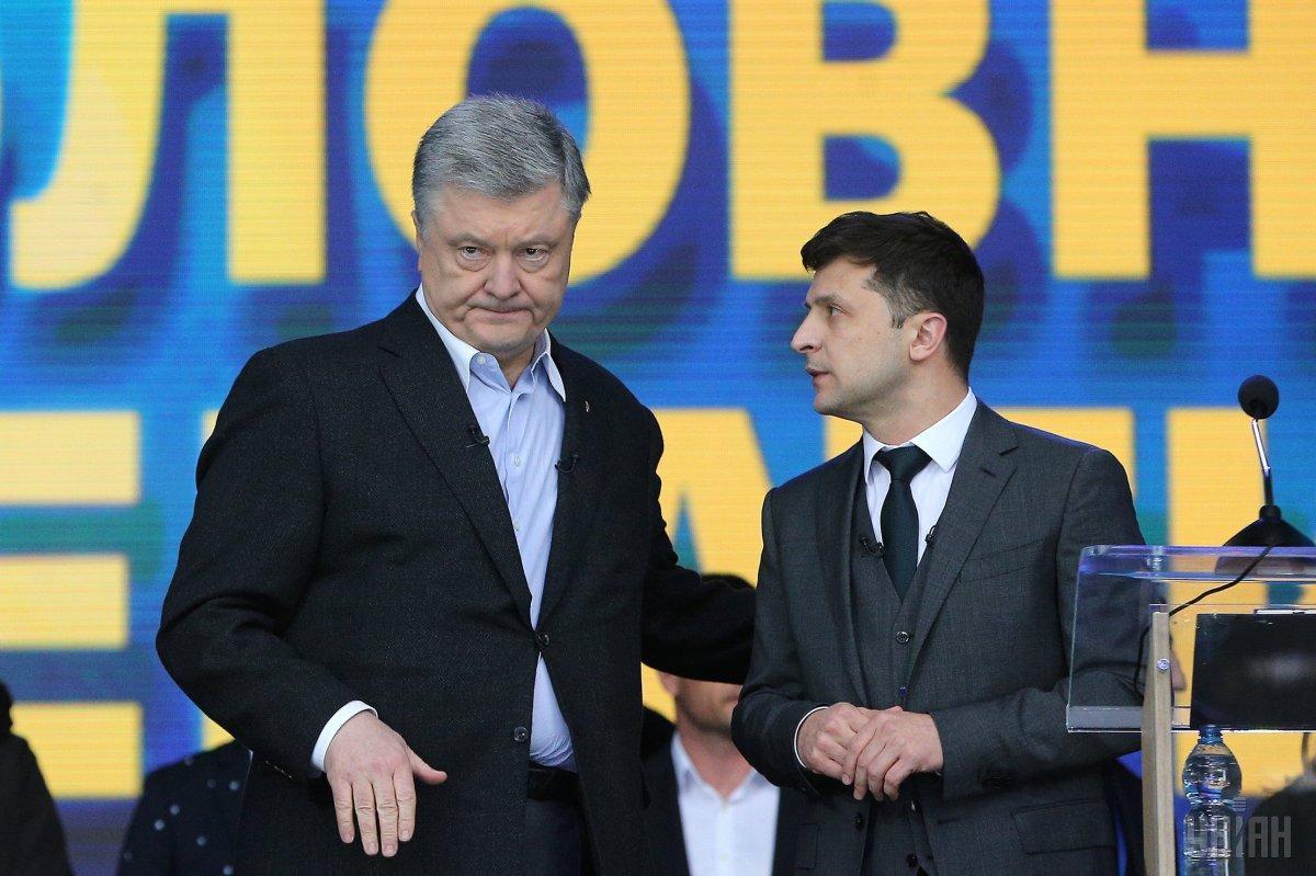 Петро Порошенко та Володимир Зеленський / фото УНІАН