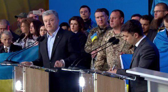 """Во время дебатов Порошенко назвал Зеленского """"мешком"""" / скриншот"""