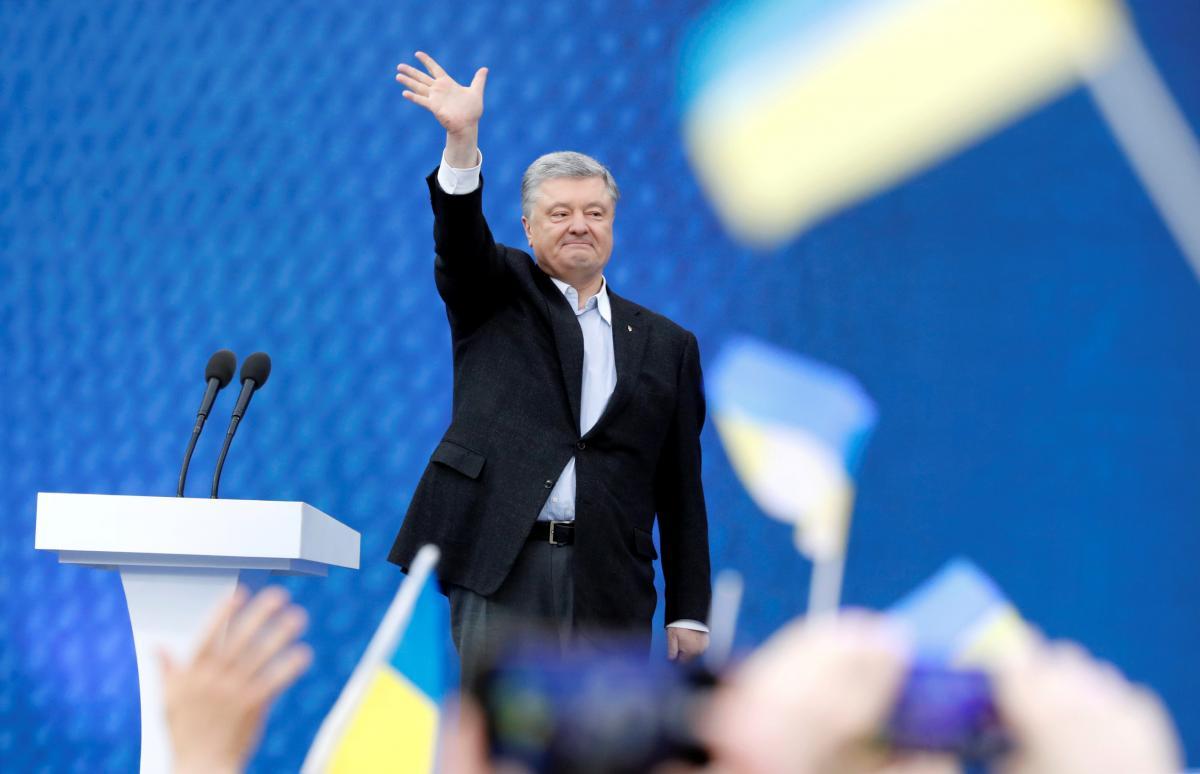 Петр Порошенко на дебатах / Фото REUTERS