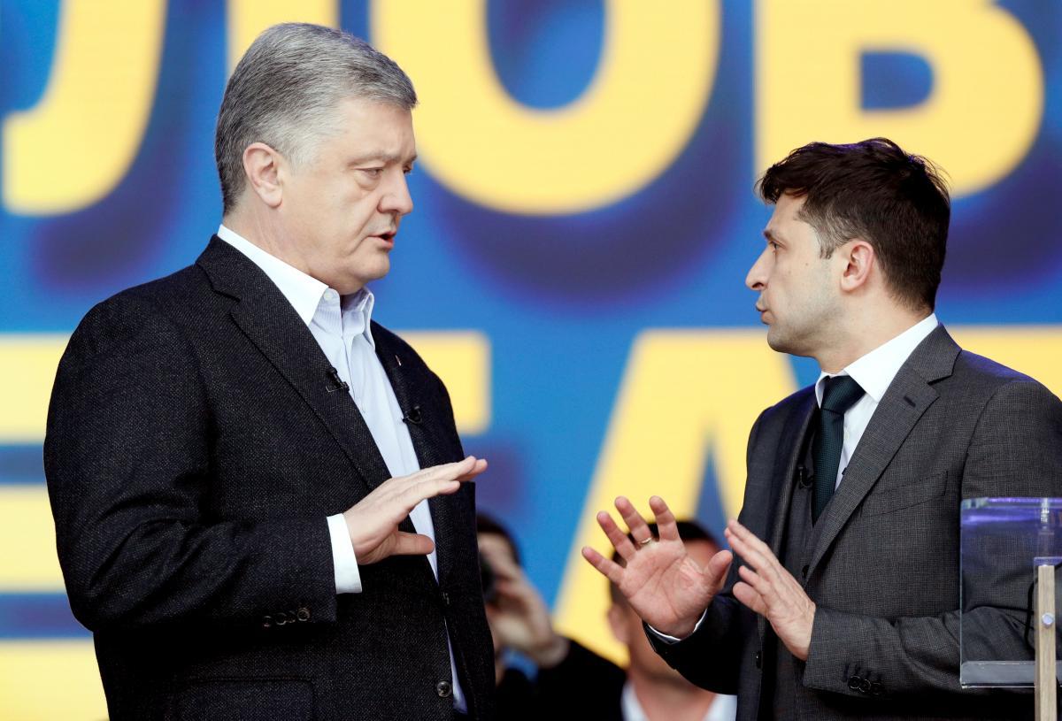 Poroshenko (left) and Zelensky (right) / REUTERS