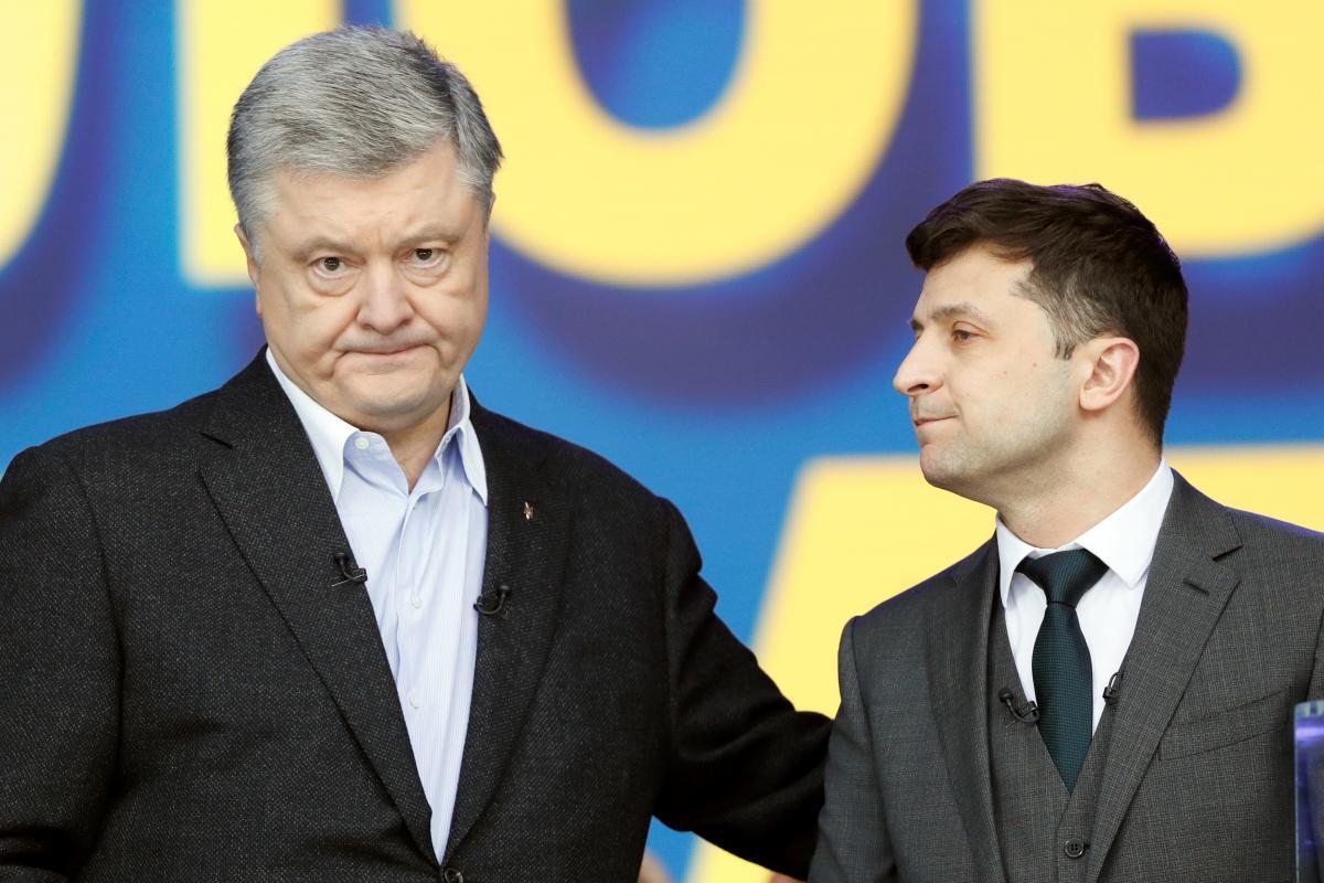 Петро Порошенко та Володимир Зеленський / фото REUTERS
