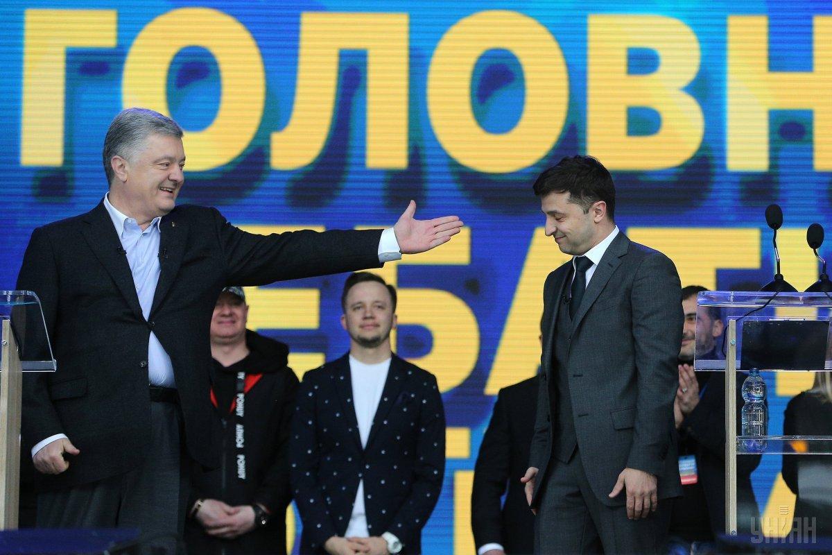 Президент України Петро Порошенко та Володимир Зеленський / фото УНІАН