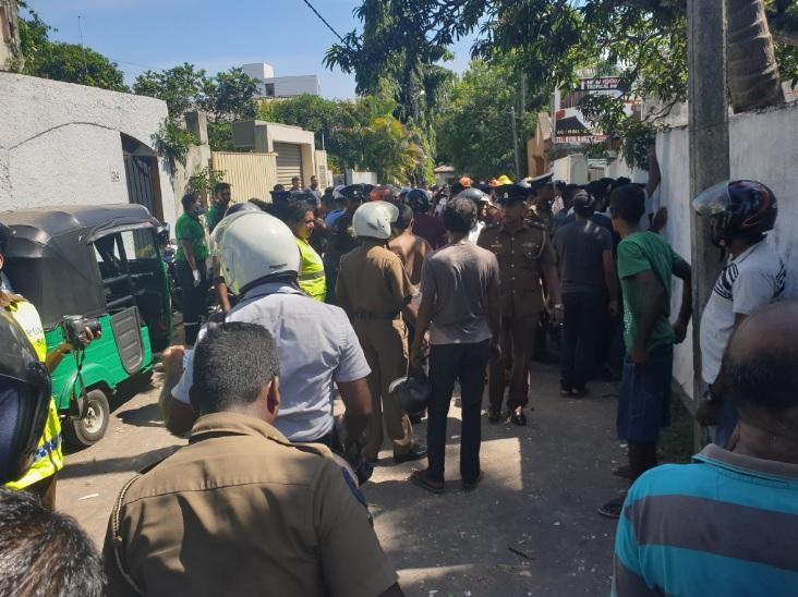 Вибух стався в невеликому готелі навпроти зоопарку Дехивала в Коломбо Фото twitter.com/AzzamAmeen