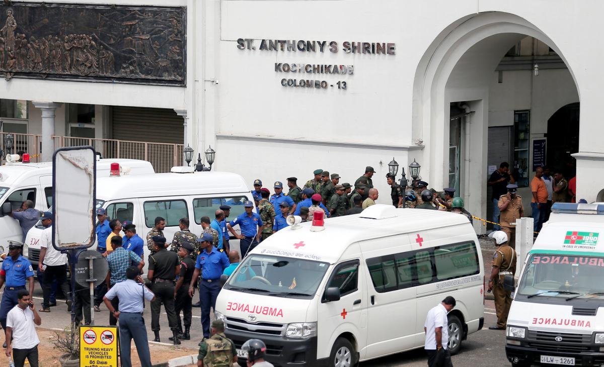 Место взрыва на Шри-Ланке / REUTERS