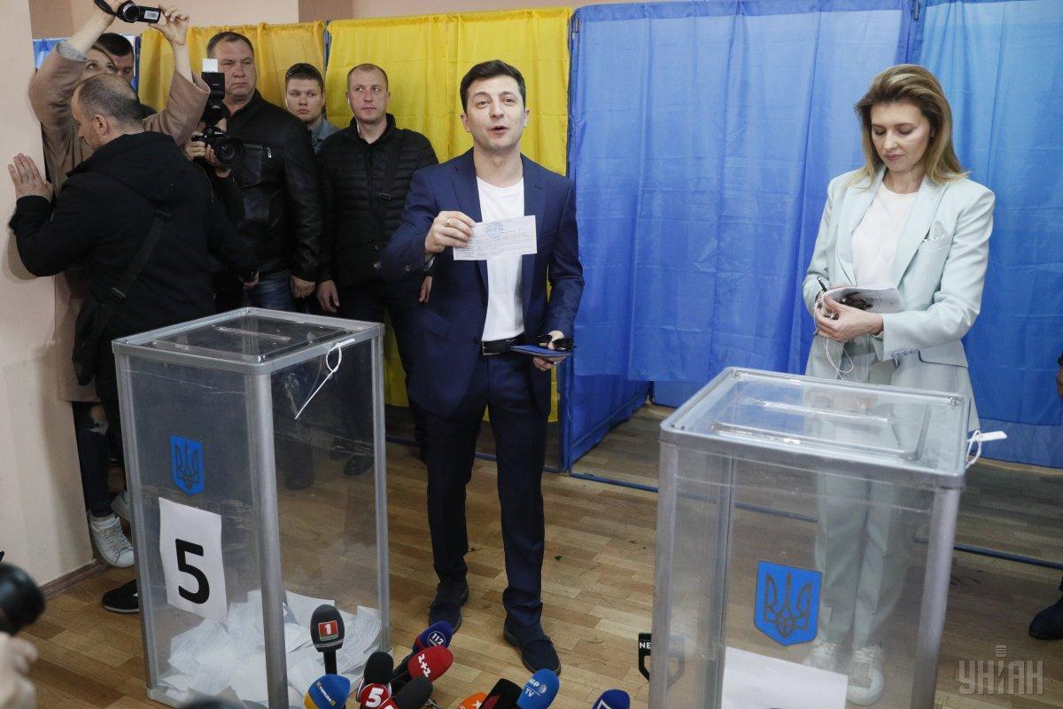 Зеленський голосував близько 11-ї ранку / Фото УНІАН