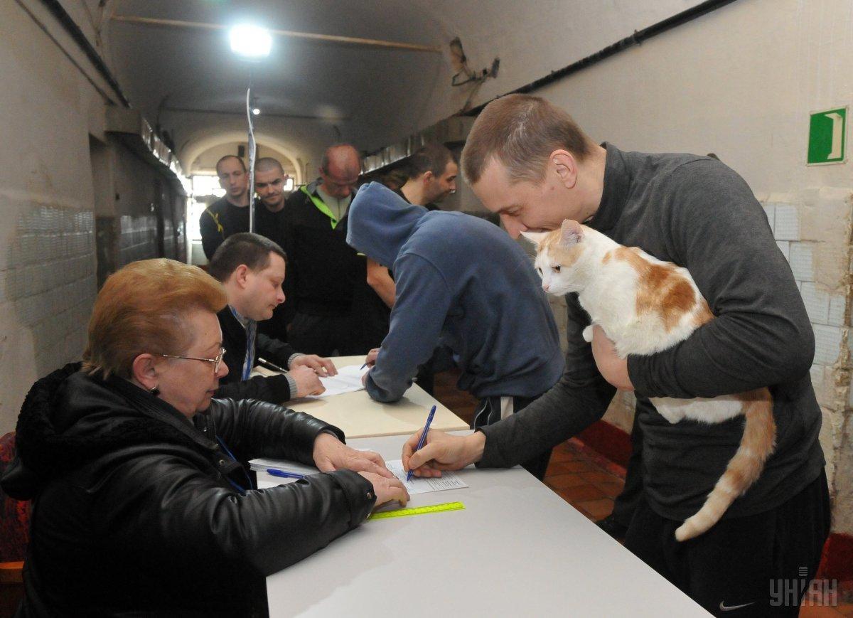 Голосування у Харківському СІЗО / Фото УНІАН