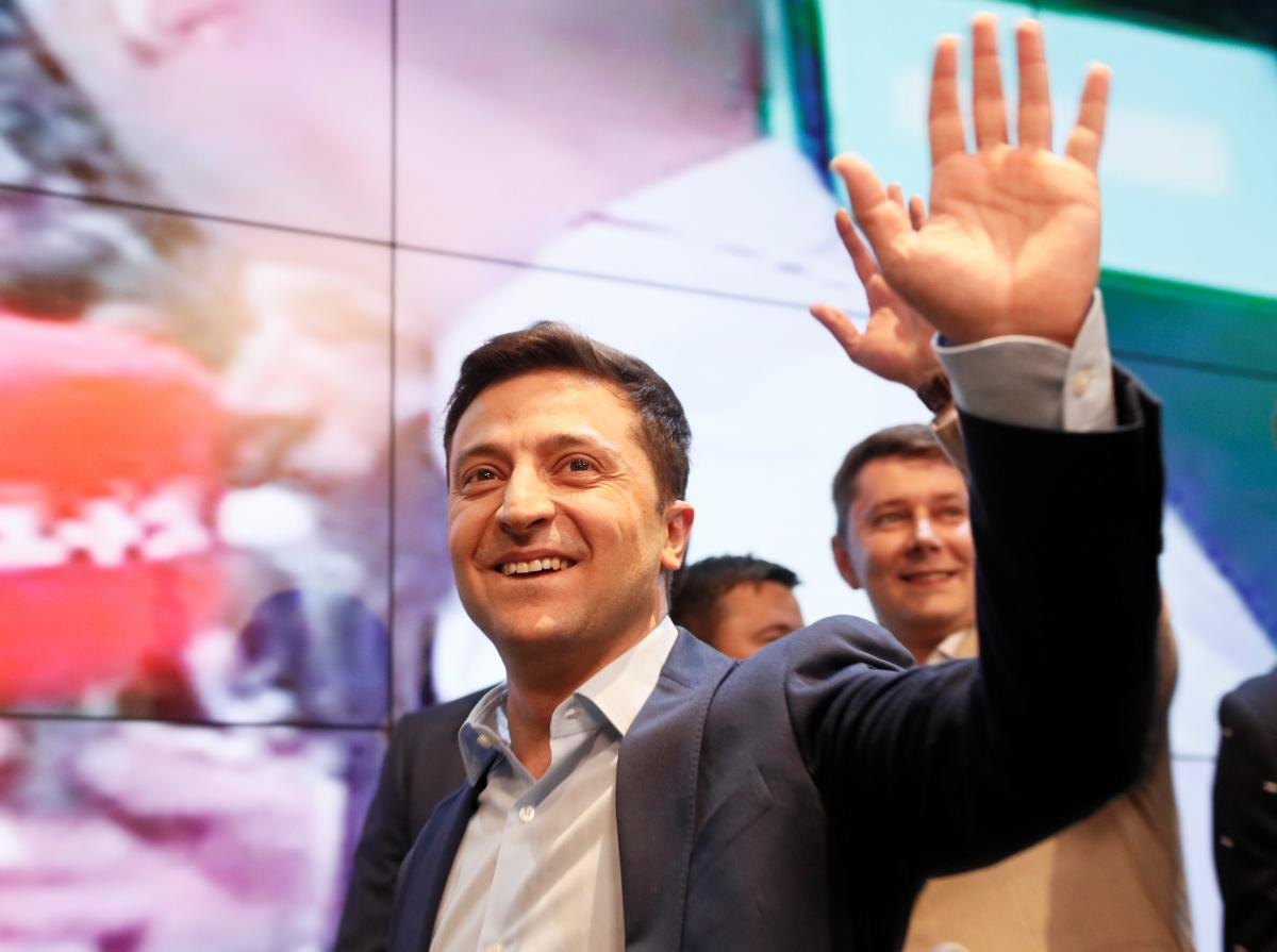 Владимир Зеленский побеждает на выборах президента Украины / Фото REUTERS