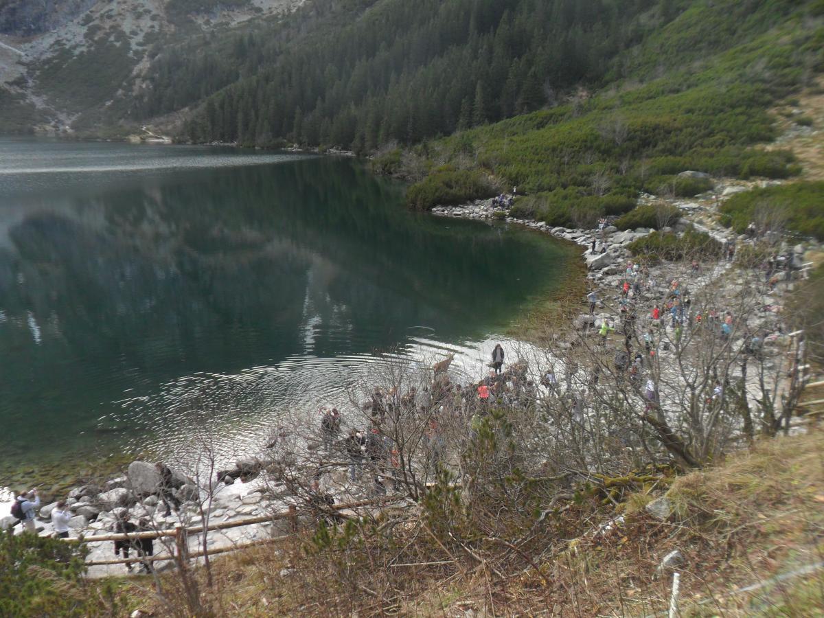 На озере всегда масса туристов / Ольга Броскова