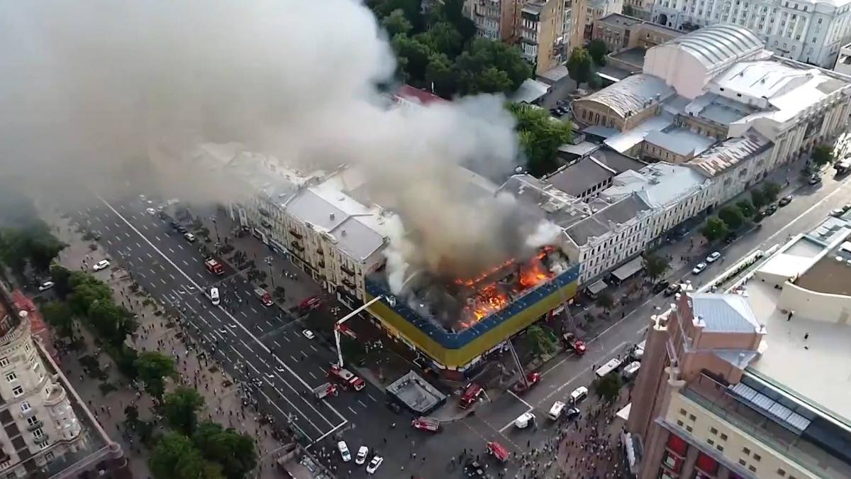 Пожежа для ділків та чиновників – найдієвіший метод віджимання ласих шматків землі у центрі столиці / фото УНІАН