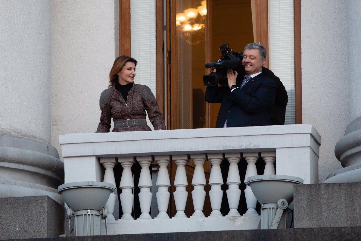 Під Адміністрацією відбулася акція / фото twitter.com/poroshenko