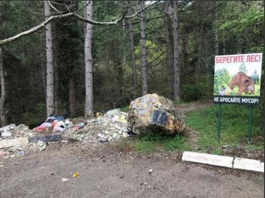Знімки заваленій сміттям Ялти опублікувала популярний кримський блогер RoksolanaToday&Крим / Фото: RoksolanaToday&Крим