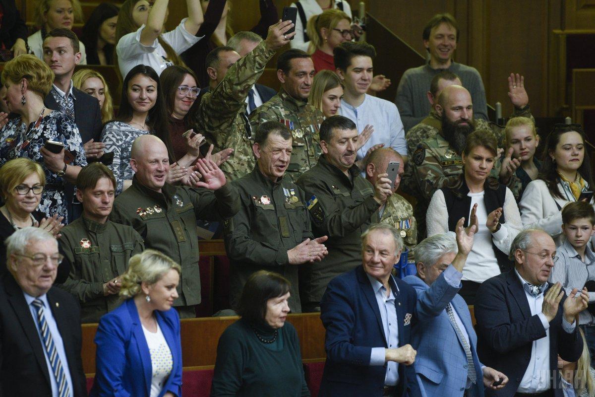 Почетные гости на заседании Рады / Фото УНИАН