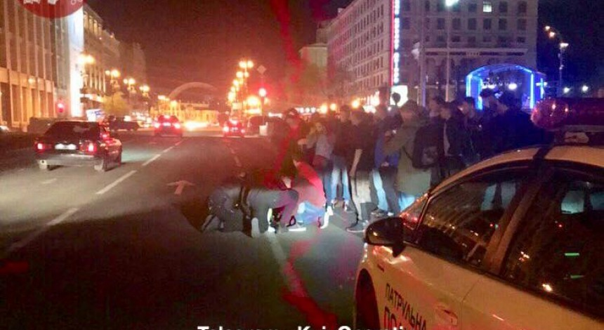 Man hijacks police car, hits officer at Maidan in Kyiv