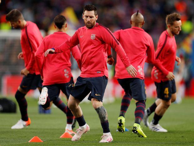 Игроки Барселоны / REUTERS