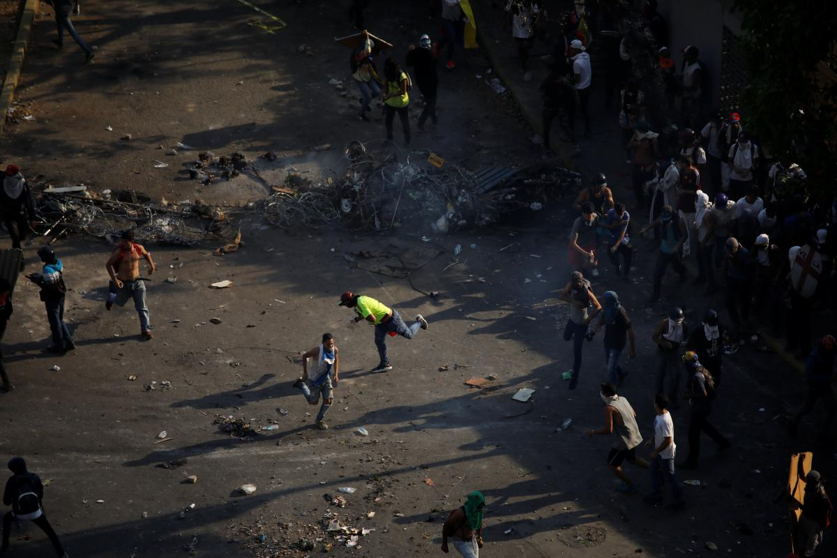 Протест в Каракасе, Венесуэла / REUTERS