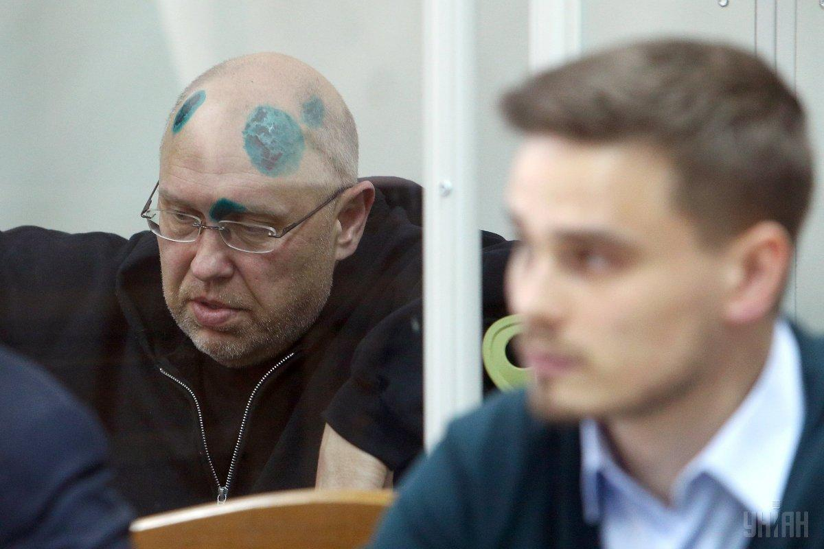 Ihor Pavlovsky in the courtroom / Photo from UNIAN, byOleksandr Synytsia