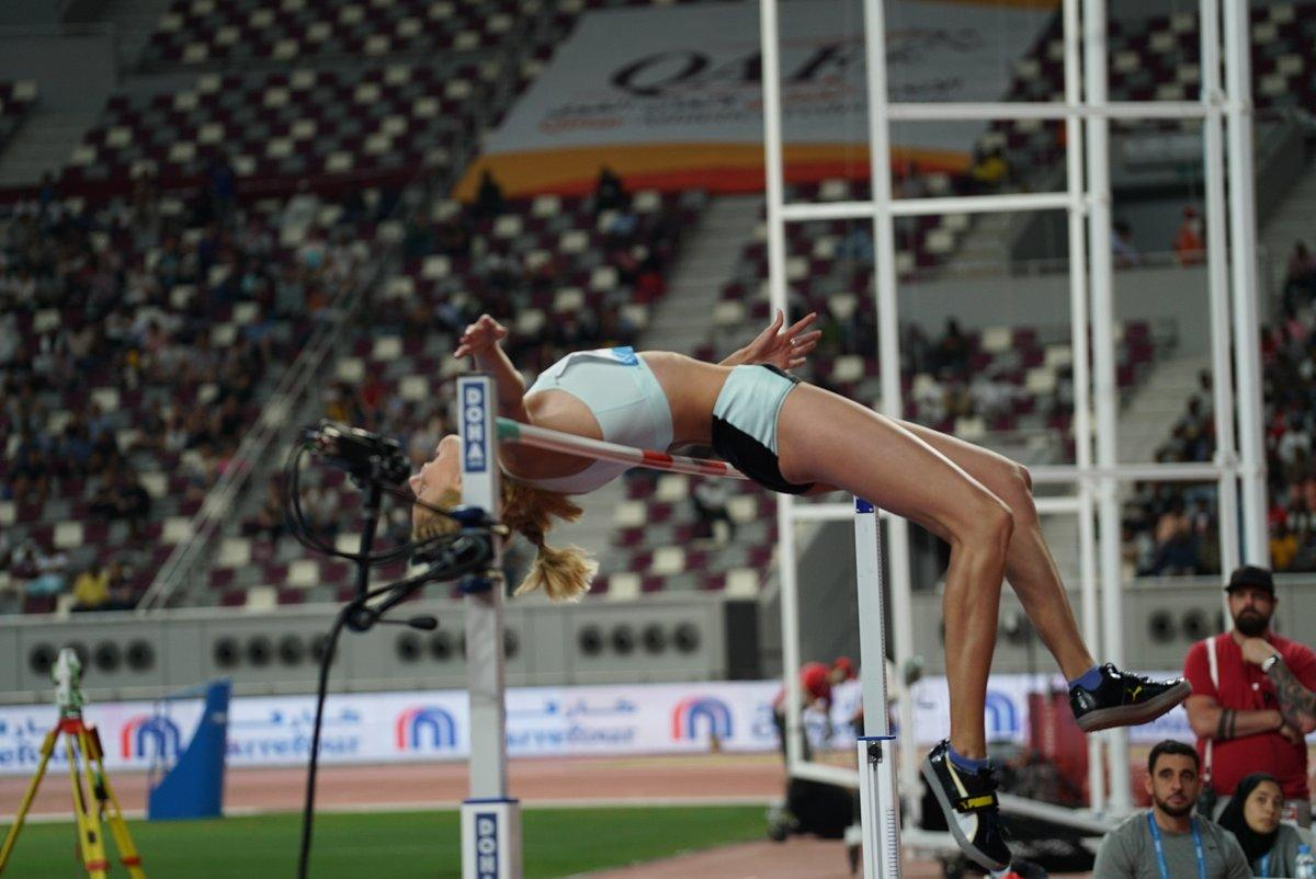 Ярослава Магучихустановила личный рекорд, взяв высоту 1.96 метра / twitter.com/iaaforg