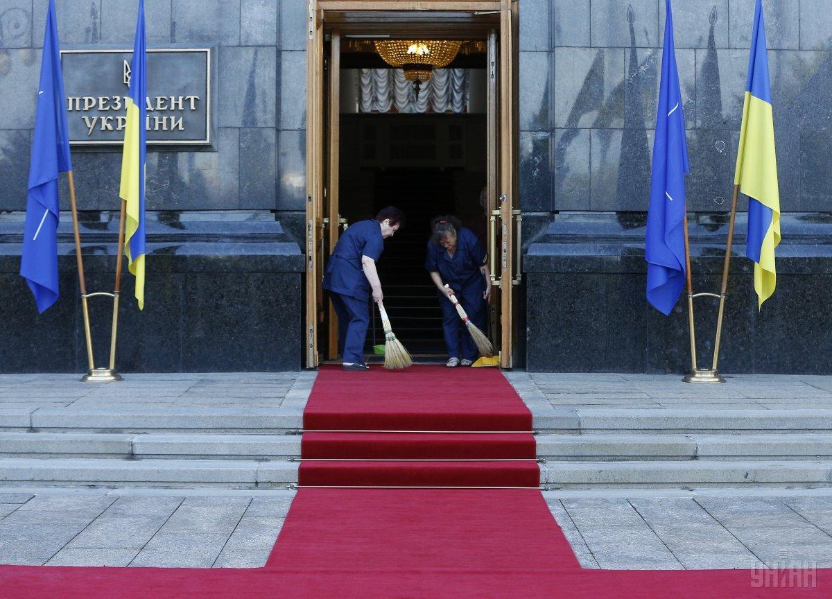 Администрацию президента Зеленского никто не охраняет / фото УНИАН