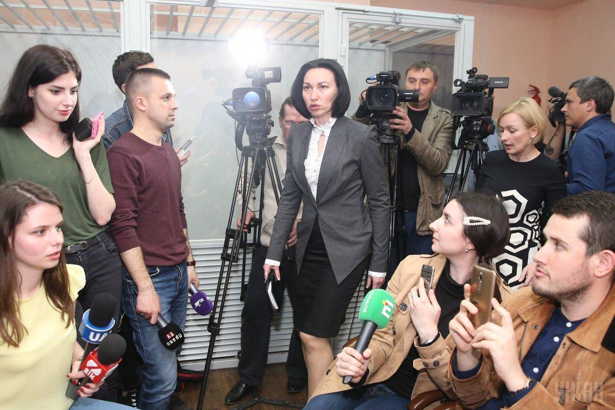 Танасевич фактично на всі питання журналістів не відповіла по суті / фото УНІАН