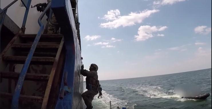 В ВСУ проводят тренировки по захвату судов в открытом море / скриншот