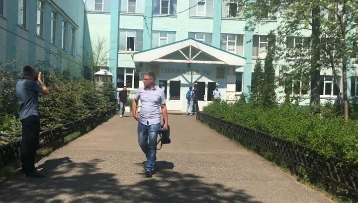 Подросток взял в заложники свой класс и учителя в российской школе / скриншот видео
