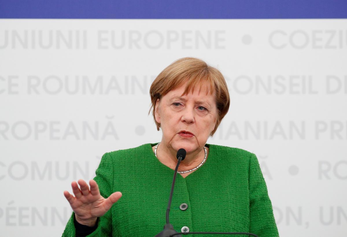 Стягивание войск РФ - партия Меркель осудила действия Кремля / Ангела Меркель / REUTERS