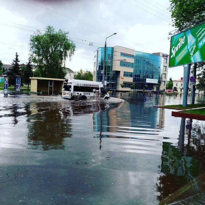 Ливень затопил Гомель / Фото: ЧП Беларусь