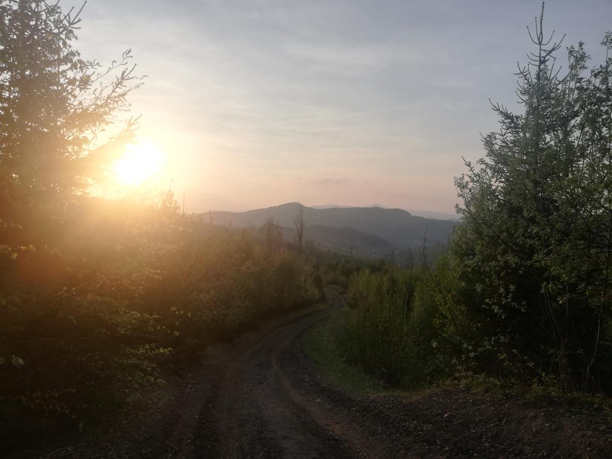 Заходи сонця в Воловці / Фото Марина Григоренко