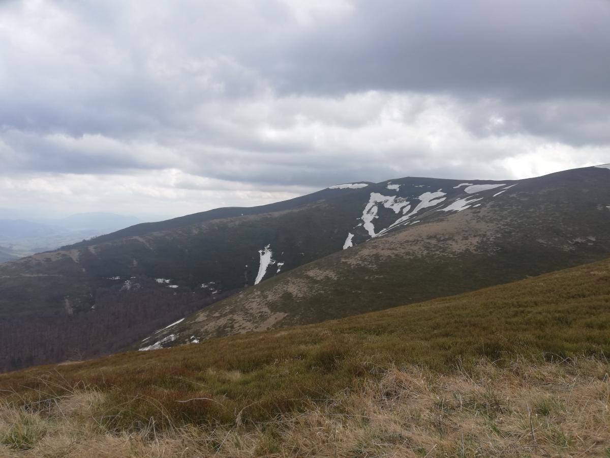 Еще в мае на горах можно увидеть снег / Фото Марина Григоренко
