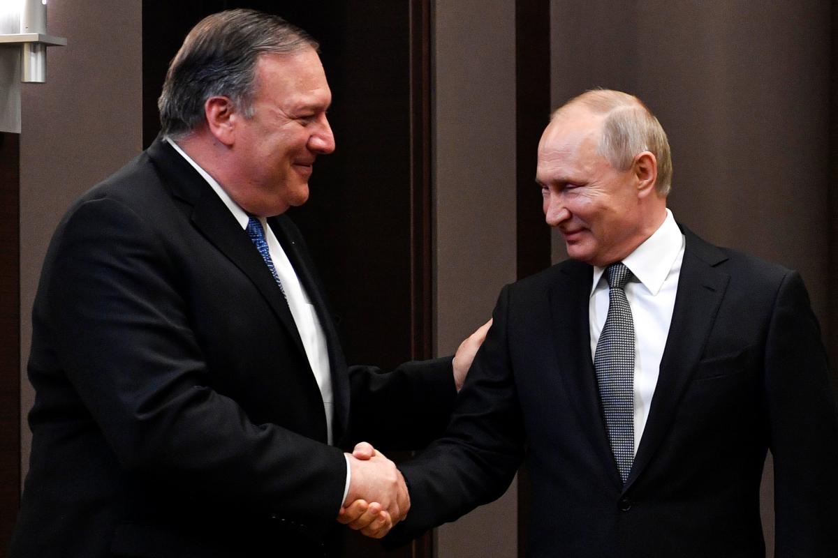 Pompeo and Putin / REUTERS