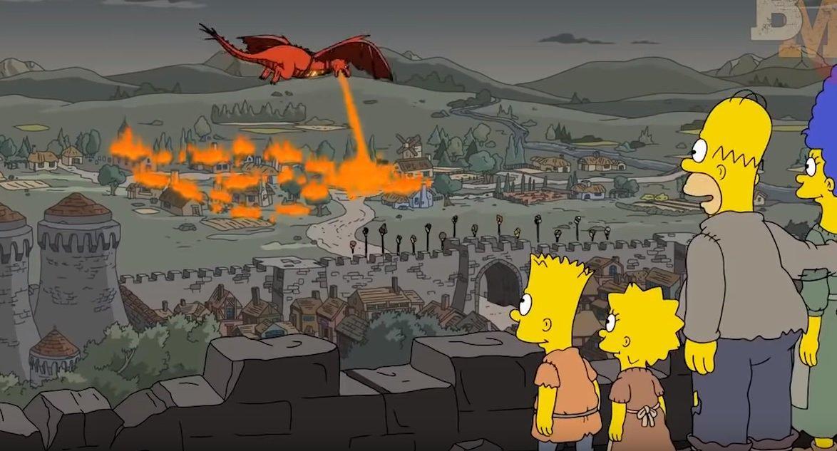 """Два года назад """"Симпсоны"""" точно предсказали сюжет предпоследней серии финала """"Игры престолов"""" / скриншот"""