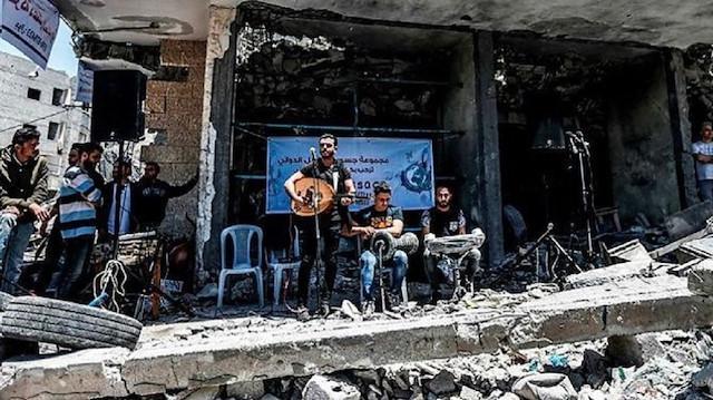Палестинцы в Газе устроили концерт, чтобы конкурировать с Евровидением / Фото: yenisafak.com