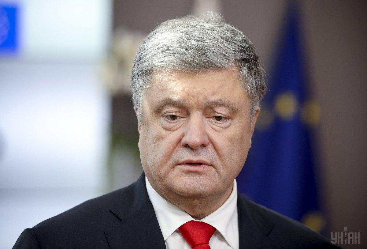 The SBI interrogates Poroshenko as a witness / Photo from UNIAN