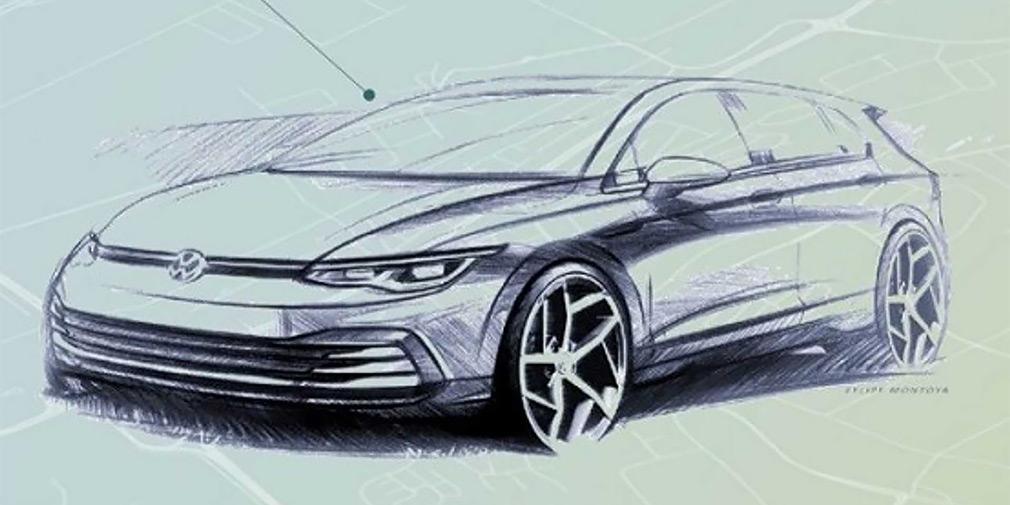 Следующий Volkswagen Golf получит увеличенный рельефный капот / фото Volkswagen