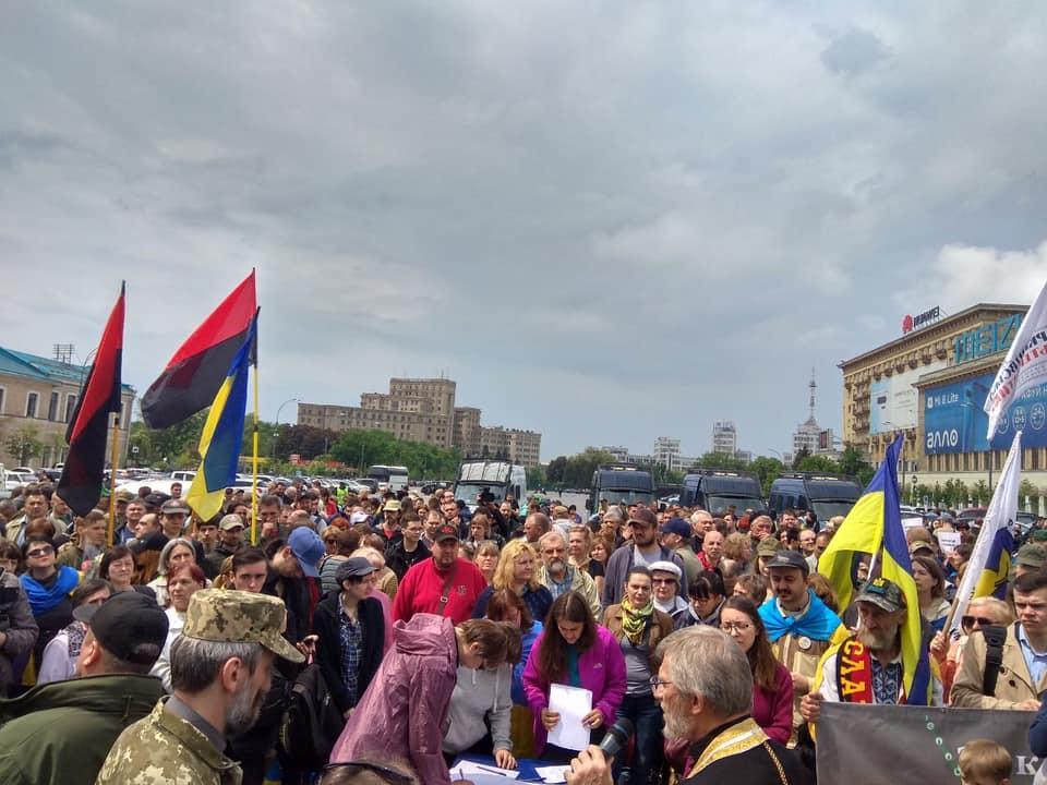В Харькове собирали вече против сноса палатки волонтеров / фото Facebook - IT Sector