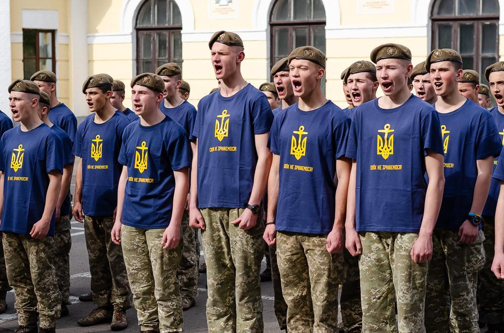 Василий Веселый инициировал флешмоб вместе с кадетами Лицея Богуна в поддержку пленных военных моряков