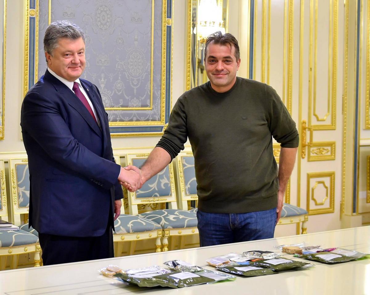 Петр Порошенко и Юрий Бирюков / фото facebook.com/yuri.biriukov