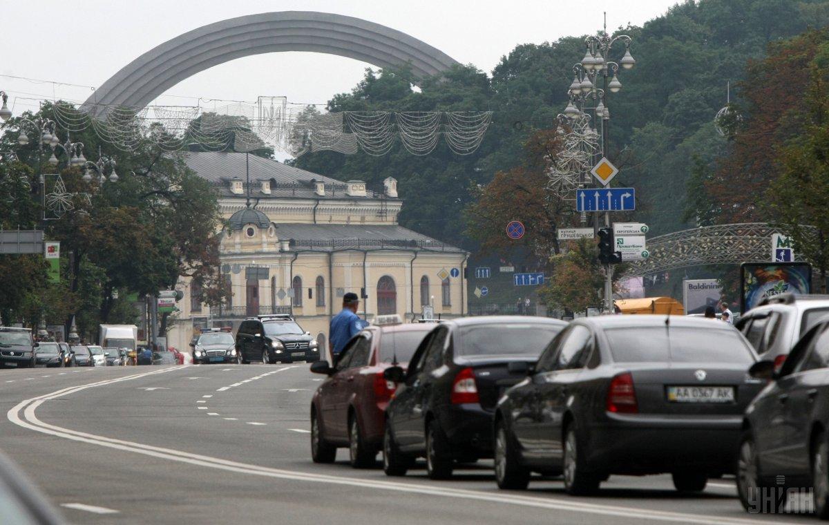 Ко дню Киева в столице ограничат движение на нескольких улицах / УНИАН