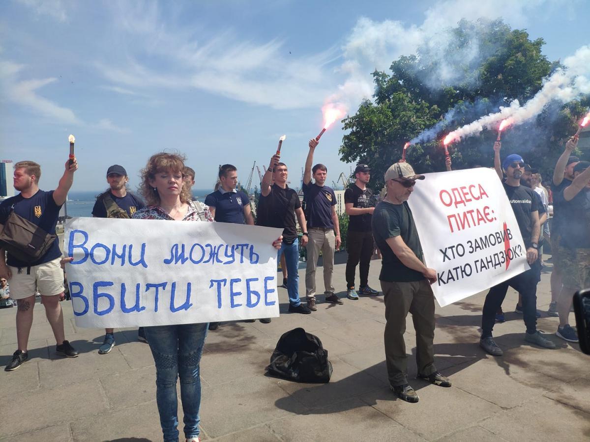 В Одессе участники акции собрались возле Дюка \ Diachenko Iurii