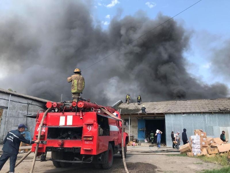 Пожарные локализовали пожар в 11:27 / фото: пресс-служба ГСЧС области