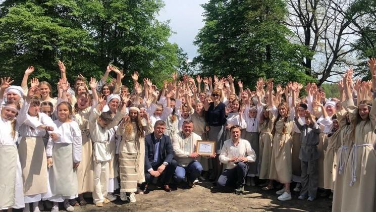 Учасники заходу виконали старовинний танець древлян/ фото прес-служби Олевської міськради