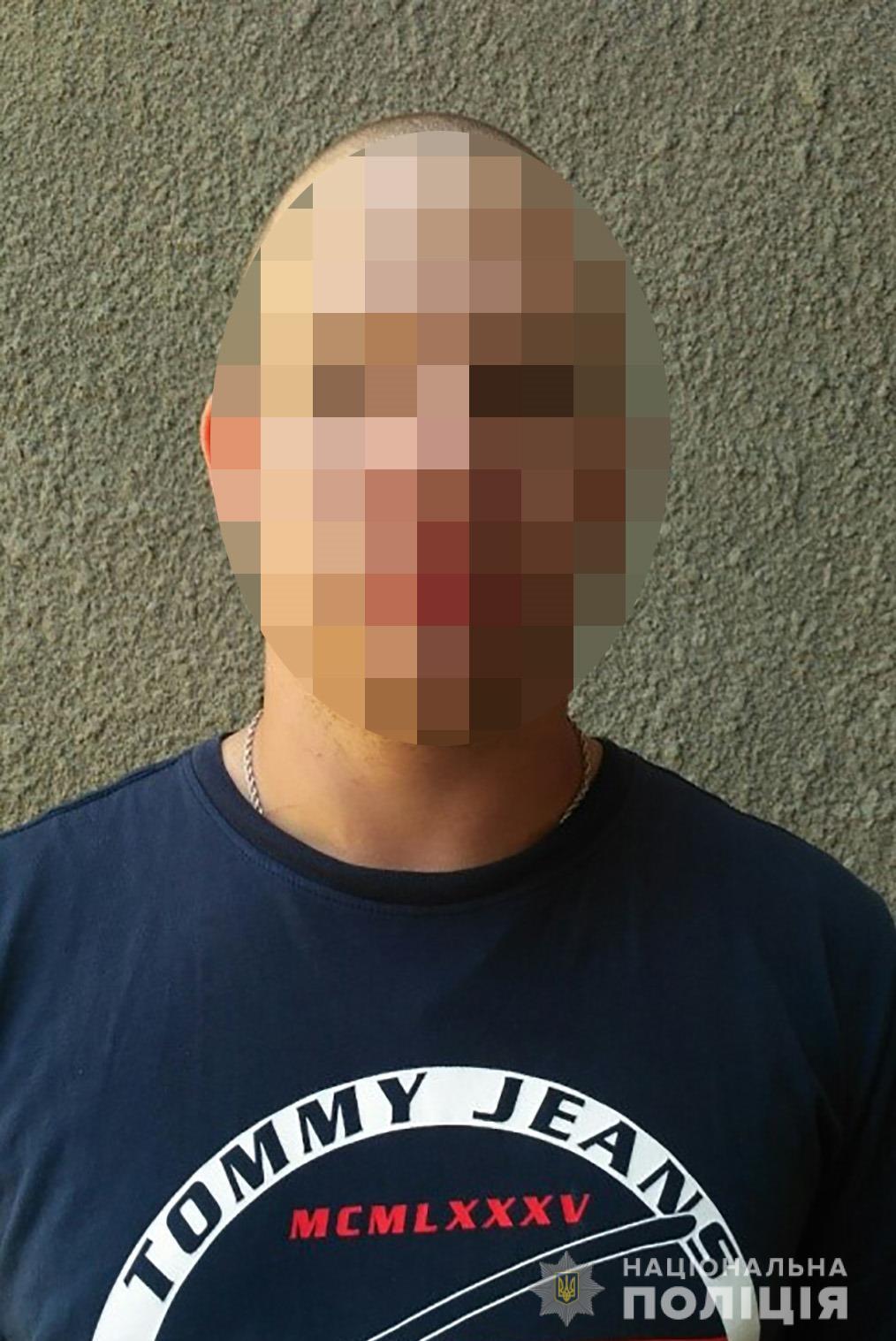 Задержанныйподозреваемый 1989 года рождения / фото: пресс-служба полиции