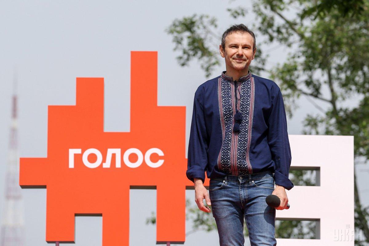 """6 травня музикант Святослав Вакарчук заявив про створення політичної партії """"Голос"""" / фото УНІАН"""