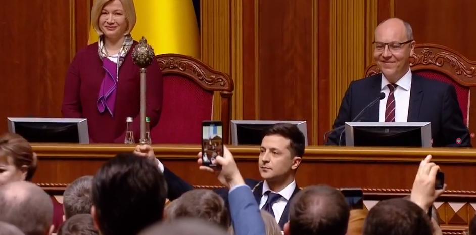 Владимир Зеленский стал президентом официально / фото УНИАН
