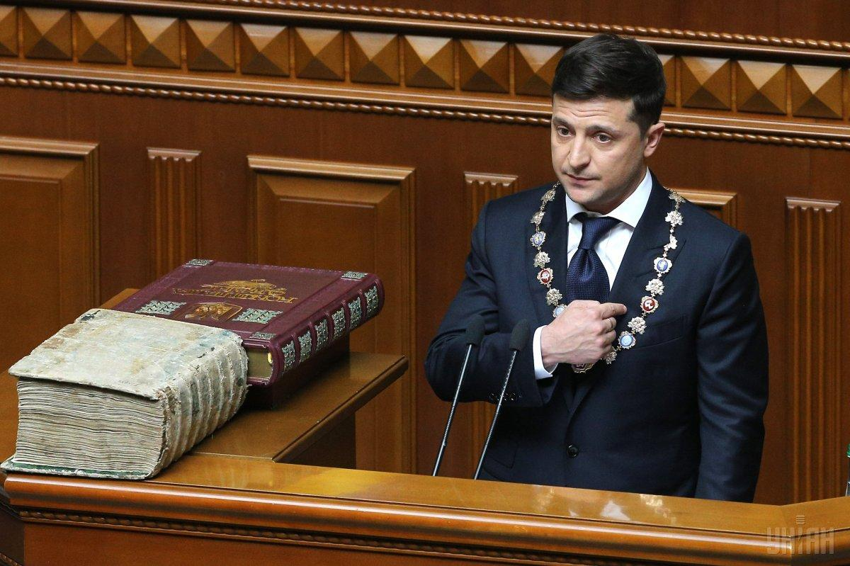 Ukraine's President Zelenskiy calls early elections in inaugural speech