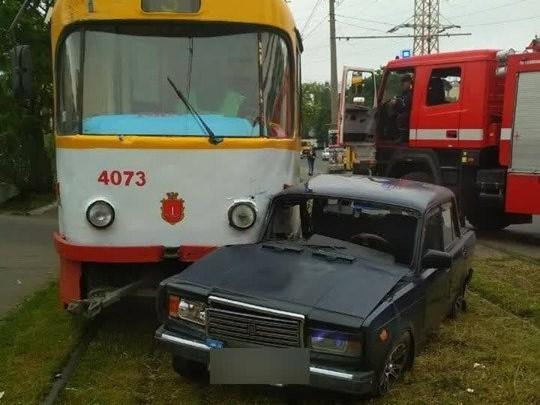 В результате ДТП пострадала пассажир авто ВАЗ/ фото:пресс-служба патрульной полиции области