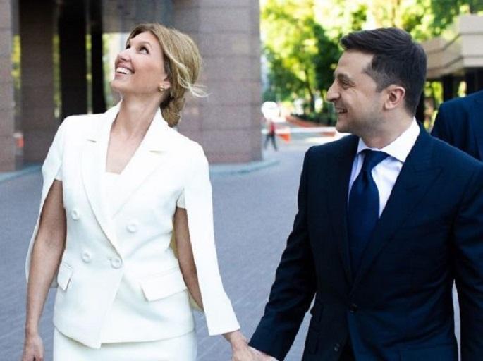 Елена Зеленская выбралабелый наряд в день инаугурации мужа / фото Instagram Елены Зеленской