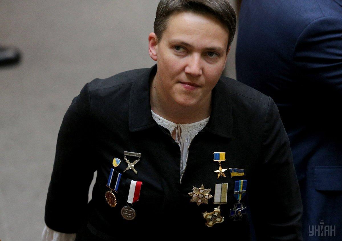 Орденоносна Надія Савченко. Скандальна депутатка вразила всіх на інавгурації (фото)