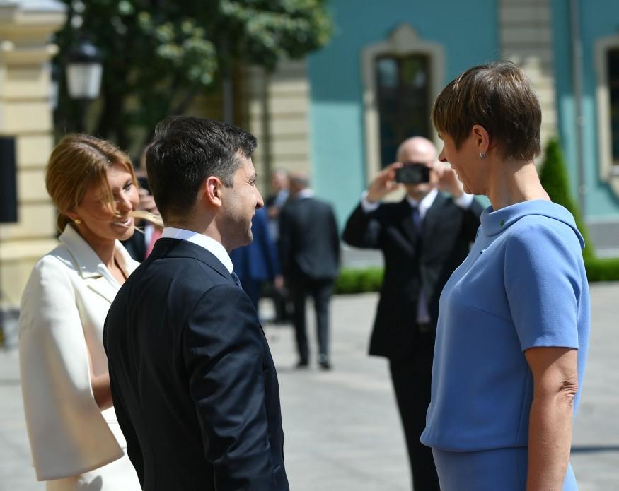 Кальюлайд побажала Зеленському зберігати курс України на вступ до ЄС та НАТО / фото president.gov.ua