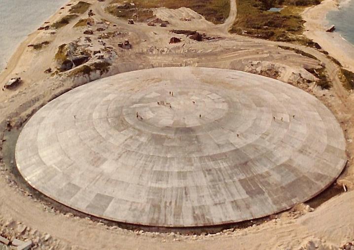 Ядерный саркофаг на острове Рунит в Тихом океане дает утечку / wikipedia.org